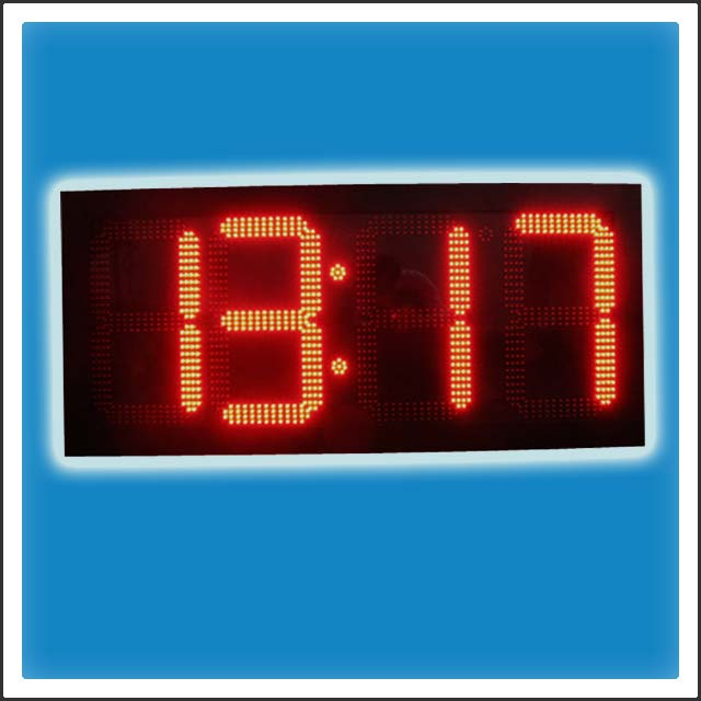 20 Inches Outdoor LED Digit Time & Temperature Display Sign