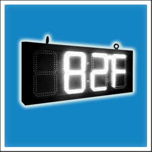8 Inches Outdoor LED Time & Temperature Clock Display